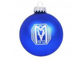 SVM Christbaumkugel Glas | blau
